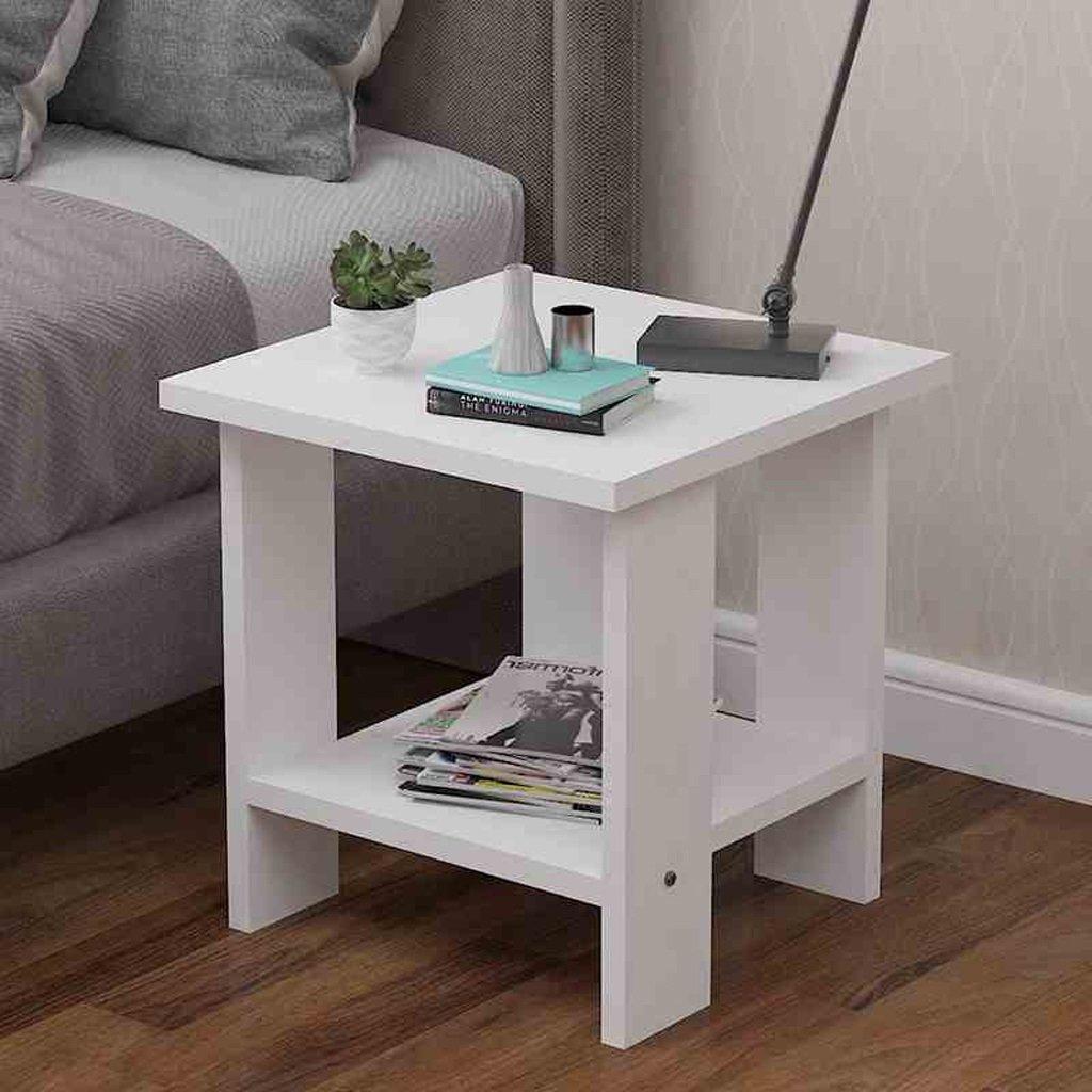 Home Desk Living Room Sofa Side Corner Several Bedroom Bedside Table Small Side A Few 505052cm ( Color : White )