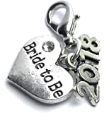 Bride To Be 2018 Clip on Charm comes with Organza Gift Bag Handmade by Libby's Market Place - From UK Seller