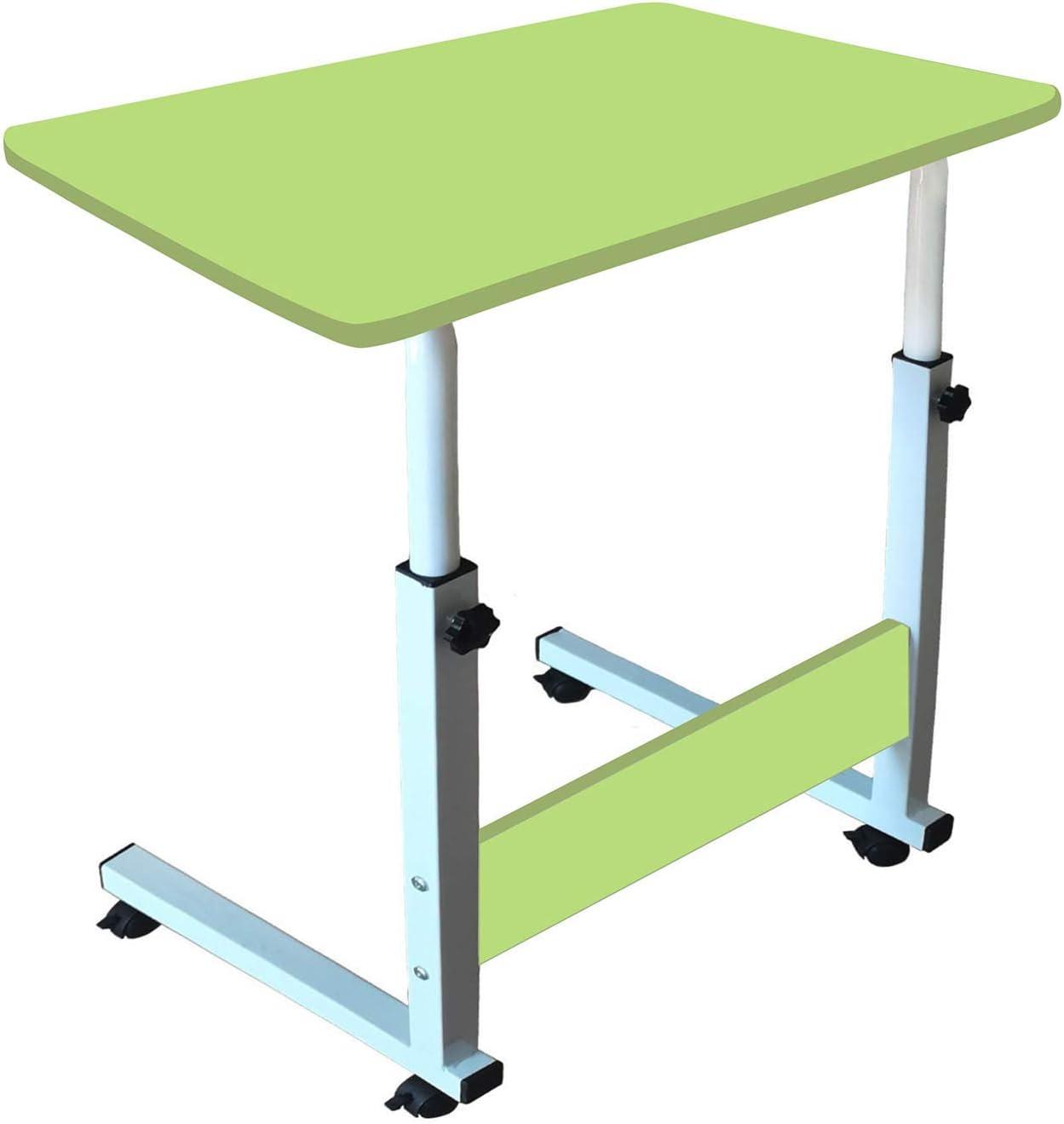 Laptop Desk, Home Office Desk, Student Desk, Adjustable Laptop Desk, Sofa Table, Mobile Bedside Table, Living Room Bedroom Table, Bed-Ridden Elderly Dining Table(Green)