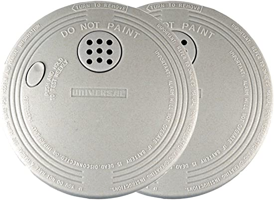 Universal Security Instruments Battery-Operated Photoelectric Smoke and Fire Alarm, 2-Pack, Model SS-901-2C 3CC Pack of 2