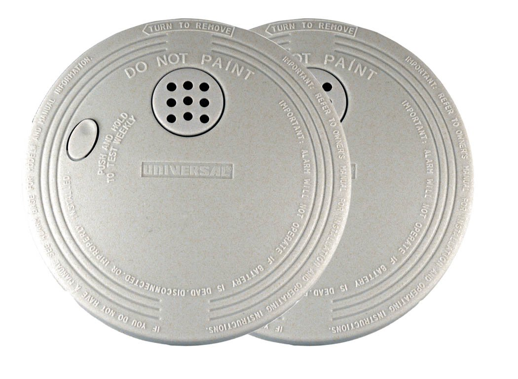Universal Security Instruments SS-901-2C/3CC Battery-Operated Photoelectric Smoke and Fire Alarm 2-Pack by Universal Security Instruments