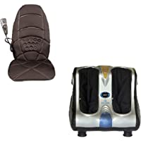 Ghk Hc6 Leg And Foot Massager Machine With Foot Rollers & Car Back Seat Massager