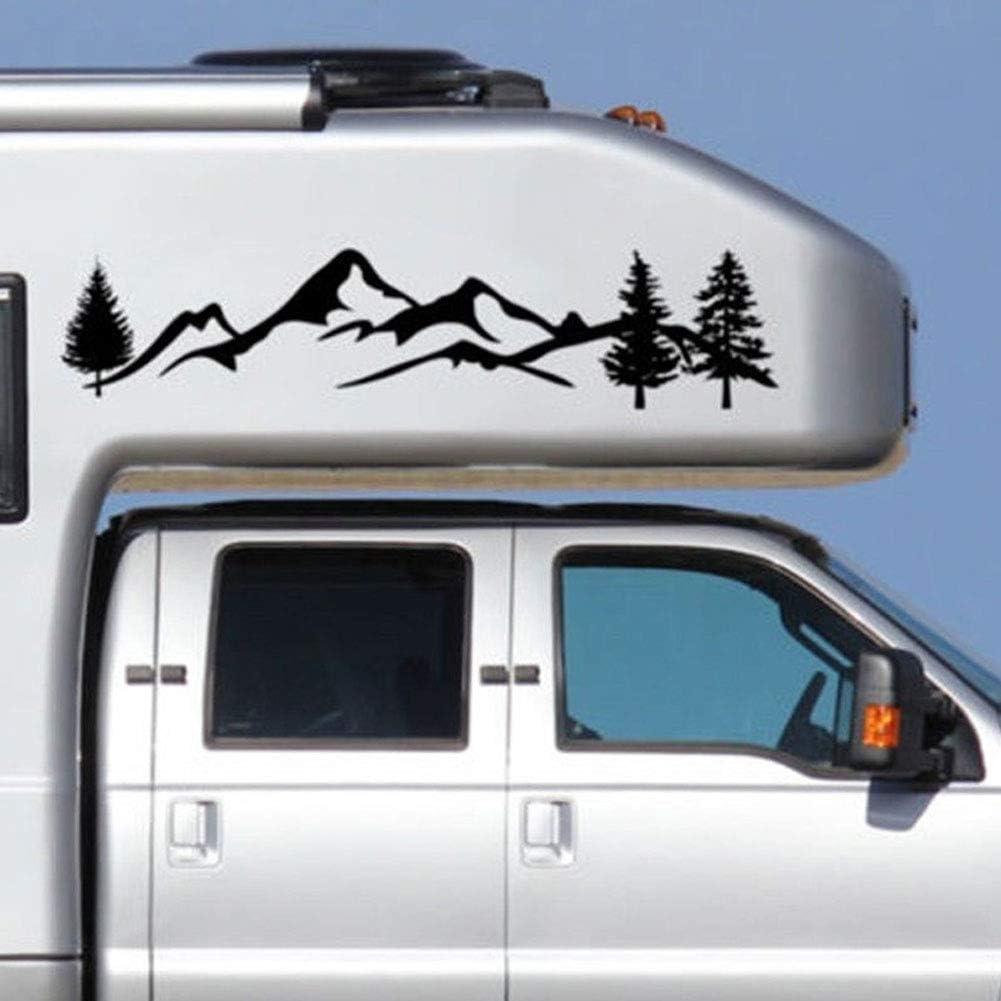 Adesivi per auto con albero riflettente motivo montagna bianco Oce180anYLV