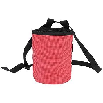 GOTOTOP - Bolsa de Cintura para Escalada con Cierre de cordón para Gimnasio y Deporte, con Bolsillo en Polvo de magnesio, Rojo: Amazon.es: Deportes y aire ...