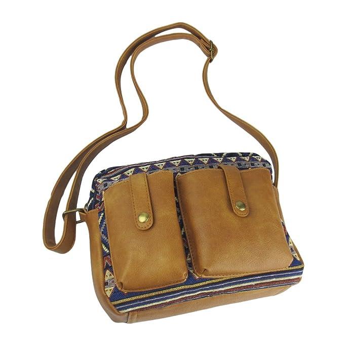 bf5d78ee8d Amazon.com  Imiflow Cute Cross Body Messenger Shoulder Bag for Teenage  Girls Handbags Leather Purses 023 Blue  Shoes