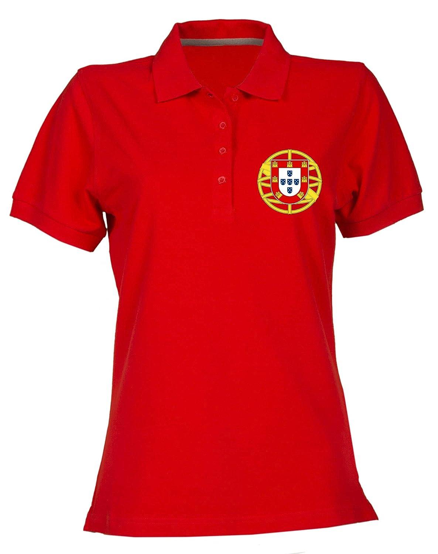 Speed Shirt Polo para Mujer Rojo TM0187 Flag BANDEIRA Portugal ...