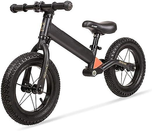 YGBH Equilibrio de Bicicletas No Pedal Formación Marco All-Aluminio de Bicicletas con Sistema Anti-vibración 12 en Neumático Desmontable límite de dirección para niños de 2-6 años: Amazon.es: Hogar