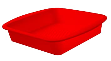 Ready Steady Cook Square Silicone Cake Mould Silicone 21cm X 21 Cm X 6cm Red