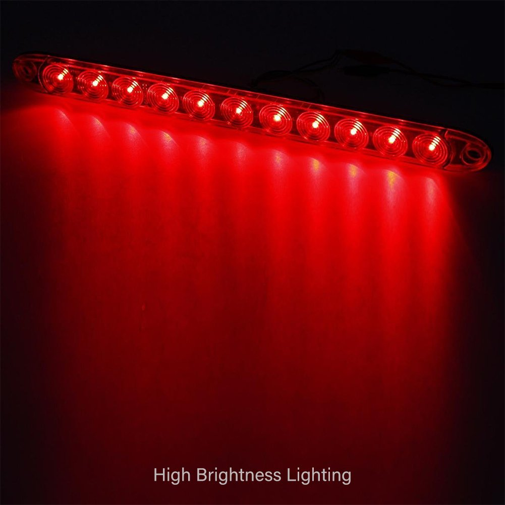 Waterproof Smoke//Red Trailer Truck Stop Turn Tail Brake Light Identification ID Bar LTPAG 15 11 LED Light Bar
