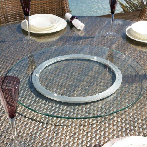 Luxus Outdoor-Garten Glas klar Lazy Susan für Esstisch 400mm