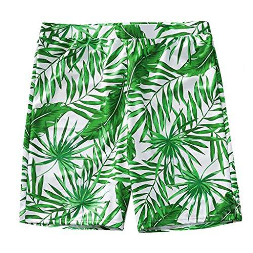 Sunhusing Dad/Boys Printed Swimming Trunks Mother/Girls Slings Printed One-Piece Parent-Child Swimwear