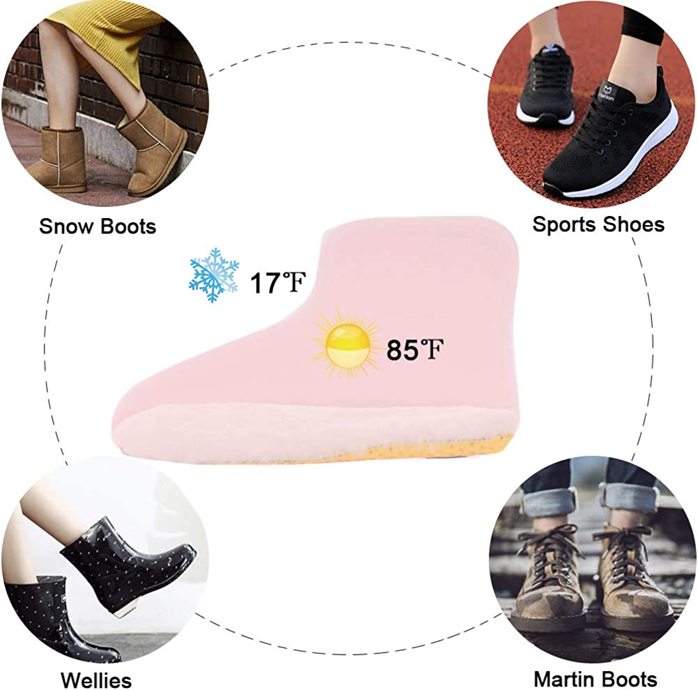 Ailaka Sheepskin Sport Insoles for Women /& Men Premium Thick Wool Fur Fleece Warm Inserts for Boots Slippers Sneakers