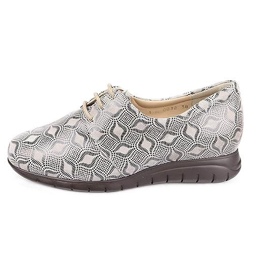 23bd9c3a Zapatos Mujer para Plantillas extraibles, Color Marfil e. Ancho Especial  para pies delicados.