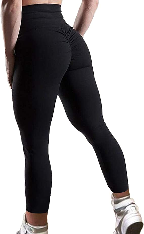 Womens High Waist Yoga Pants Butt Lift Leggings Workout Sports Athletic Trousers