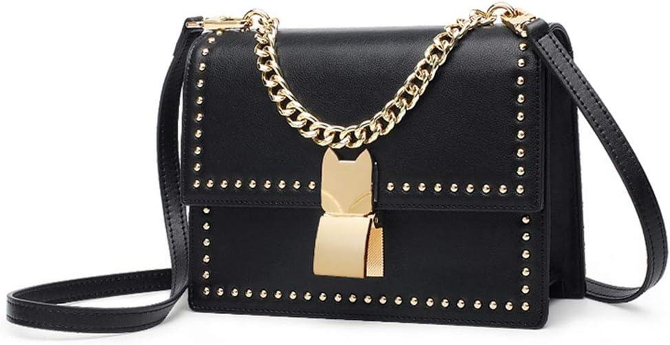 HWX Womens Mini Small Handbag Crossbody Shoulder Messenger Bag,Black,19x7x14cm