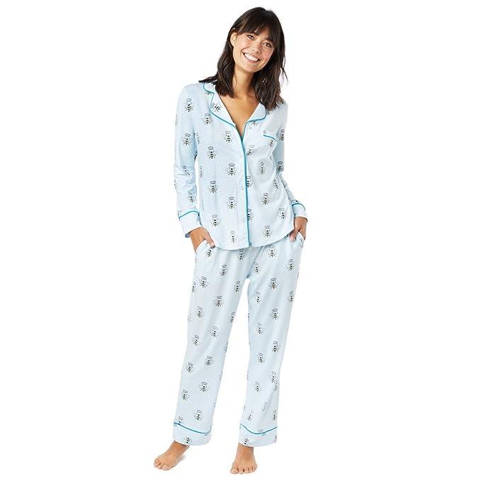 Amazon.com: La pijamas Abeja Reina del gato azul Knit Azul ...
