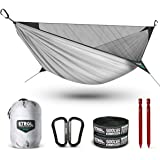 ETROL Upgraded 2 in 1 Ridge Hammock with Mosquito Net - Lightweight Portable Single Hammocks - Tree Straps, Hold Up to…