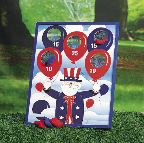 Patriotic Bean Bag Toss Game (1 set) by CusCus (Image #1)