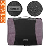 Homdox 4 Piece Set Packing Cubes with Laundry Bag