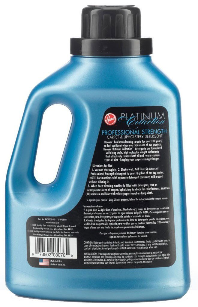 Hoover AH30030 Carpet Cleaner Upholstery Detergent Solution, Platinum Collection Professional Strength Formula, 50 oz