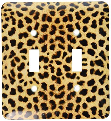 3dRose LLC lsp_20340_2 Cheetah Animal Print Double Toggle Switch (Cheetah Print Light Switch Cover)