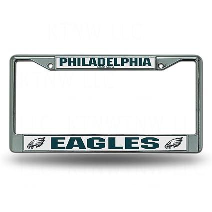 Amazon.com: Philadelphia Eagles Chrome License Plate Frame: Automotive