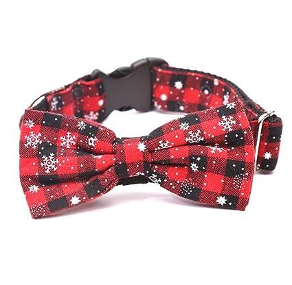 WILRND Home Collar de Perro Gato Navidad Copo de Nieve ...