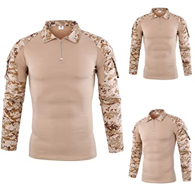 3e909548dc8d7 DIKEWANG New Element Mens Tops Camouflage Army T-Shirt Men Tactical Combat  Soldiers T-