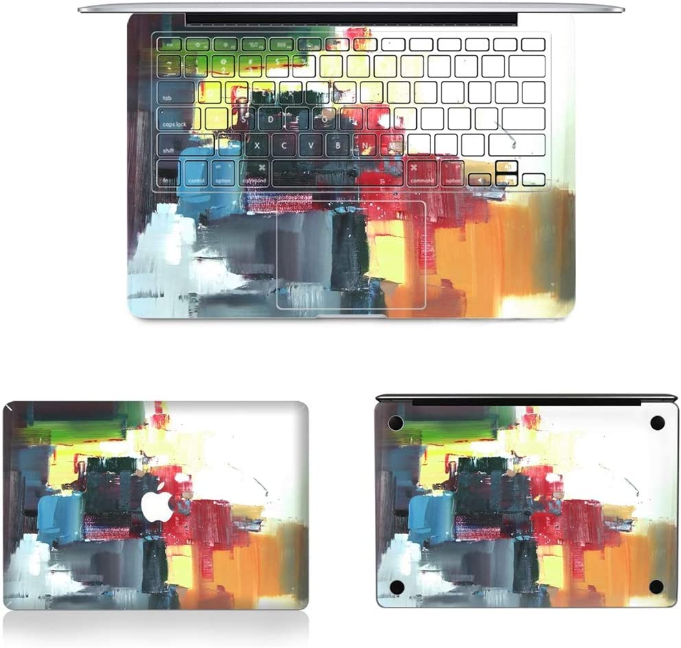 Bottom Film Set for MacBook Air 13.3 inch A1466 JIN Suitable for Mac 3 in 1 MB-FB13 US Version 2010-2012 Full Keyboard Protector Film Full Top Protective Film 70 // A1369 2012-2017