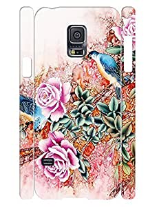 Hipster Rose Bloom Treasure Design Handmade Cell Phone Protective Cover Case for Samsung Galaxy S5 Mini SM-G800