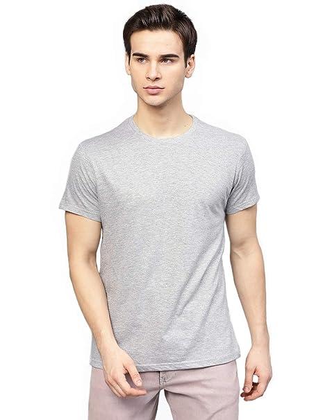 sports shoes ebb04 37cf1 DEIN KLEIDER Round Neck Plain T-Shirt for Men