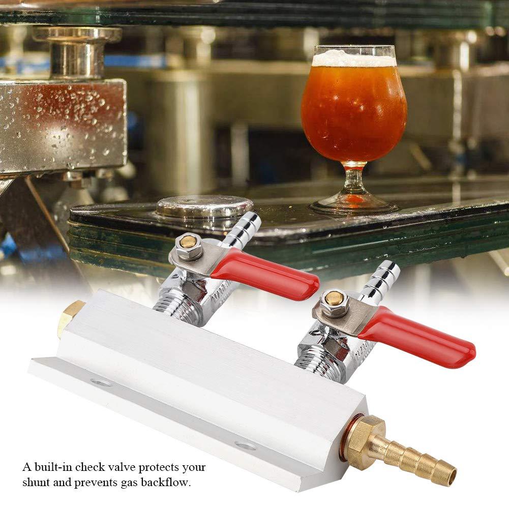 distributore di Birra Muti-Way Home Co2 Air Gas Collettore di distribuzione Splitter Beer 2 Way OKBY Beer Splitter