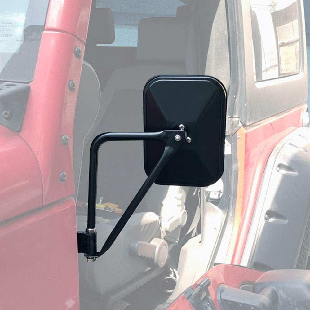 Fits Jeep Wrangler Doors off Mirrors for JK JKU JL 1997 to 2018 Side Rear View Mirror JoyTutus