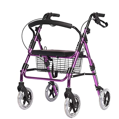 Rodillo plegable de aluminio para caminar, andador de rodillos ...