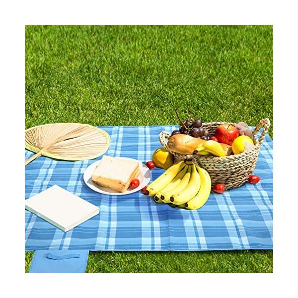 61Oao7NquGL femor Picknickdecke 200 x 200/300cm,Outdoor Stranddecke wasserdichte sanddichte tolle Picknick-Matte,Fleece…