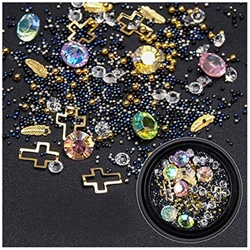 1 Pcs Micro Pearl Cat Eye Strass Gradient Rivet Nails Art Glitter Magnificent Popular Nail Crystals Kits Painting Pens Brushes Sticker Decal Tools Professional Foil Unicorn Halloween Tips, Type-07