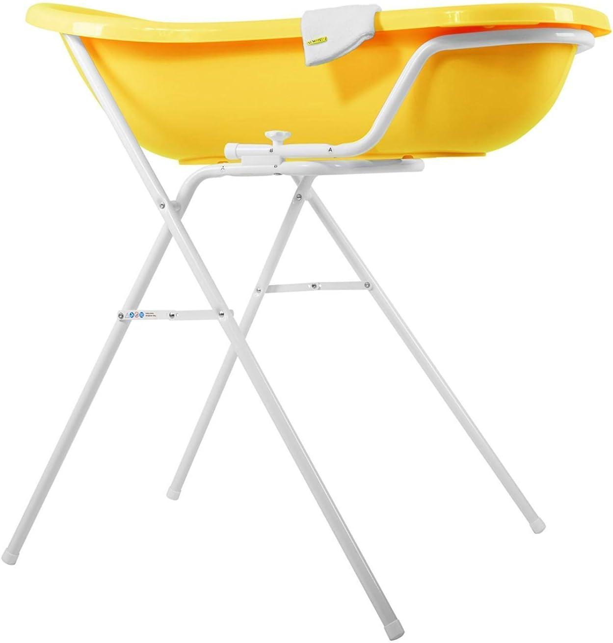 Grass Green Stand and Wash Mitt Funny Farm XXL Baby Bath Tub 100 cm