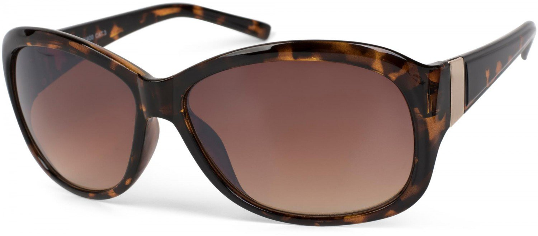 styleBREAKER Sonnenbrille mit Strasssteine und Verlaufstönung, Schmetterlingsform, Damen 09020055, Farbe:Gestell Schwarz / Glas Grau-Violett Verlaufsglas