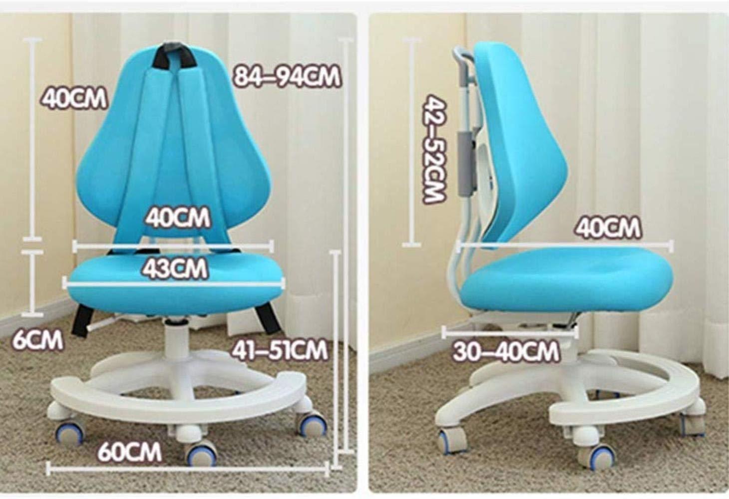 Xiuyun kontorsstol spelstol korrigerande stol justerbar studentstol hem baksida skriva sittande hållning korrigeringsstol barnstudiestol svängbar stol (färg: A) a