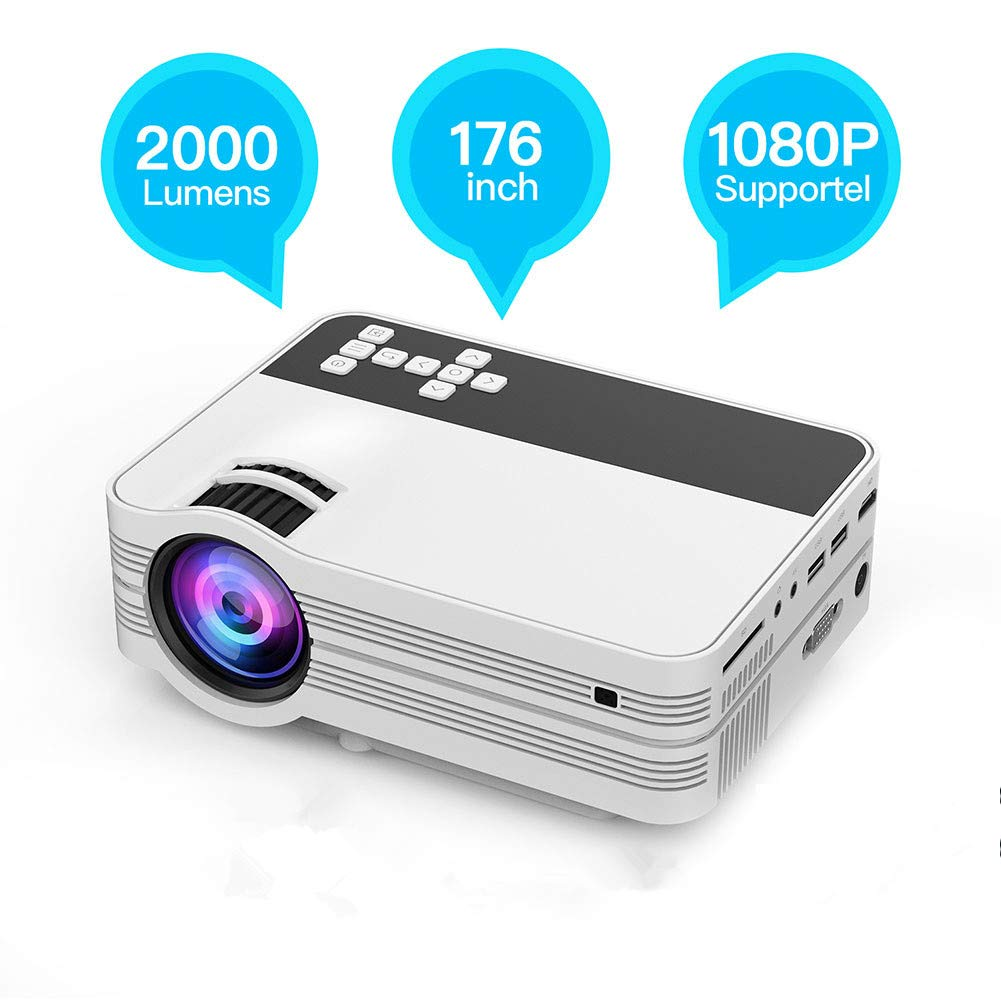 Mini Proyector de 4500 Lúmenes, Proyector Full HD LED 1920x1080 ...