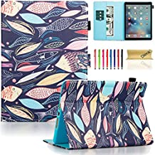 iPad Air 2 Case, iPad 6 Case, Dteck(TM) Pretty Cute Cartoon Flip Smart Stand Case with [Auto Sleep Wake] Premium Synthetic Leather Magnetic Wallet Cover for Apple iPad Air 2-Midnight Fish