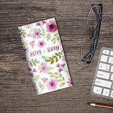 2018-2019 Watercolor Flowers 2-Year Pocket Planner