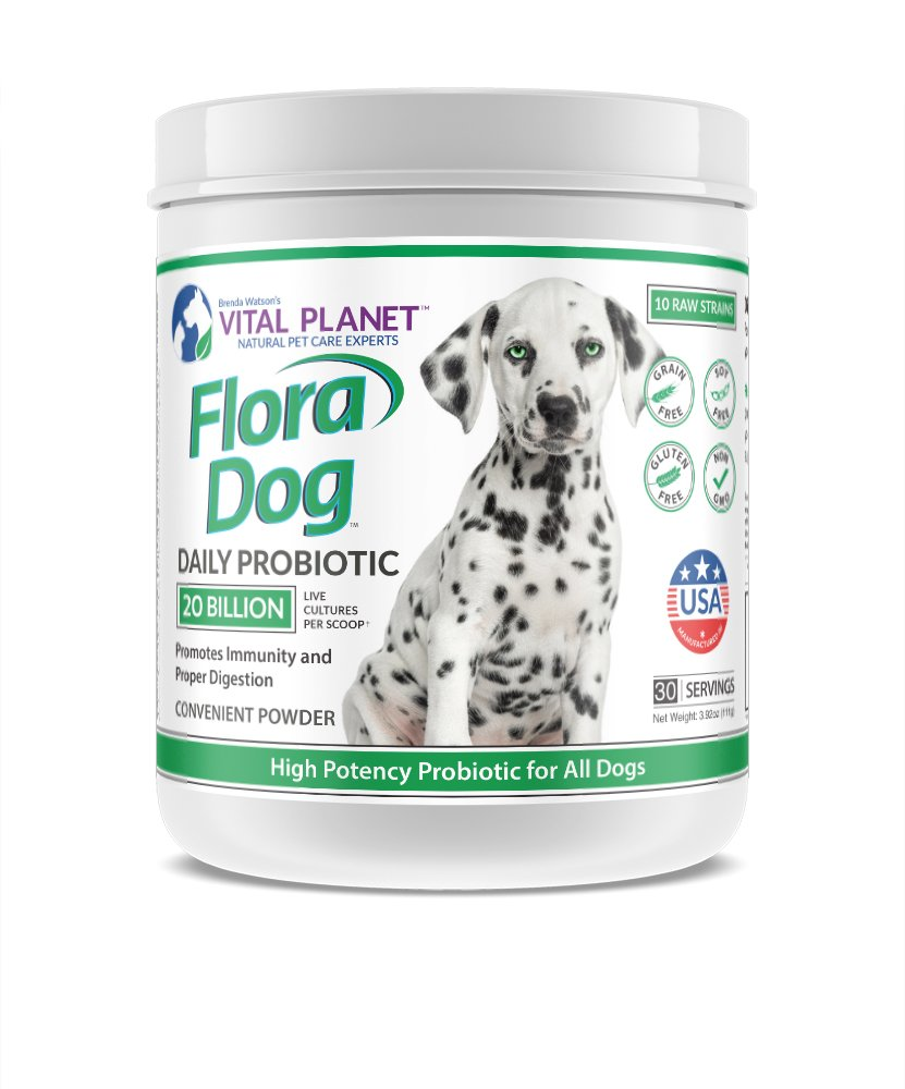 Vital Planet - Flora Dog - High Potency, Multi Strain Probiotic formuls for Dogs - 3.92 Ounces 30 Servings by Vital Planet
