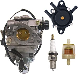 NIMTEK 16100-ZJ0-871 Carburetor with Fuel Pump Spark Plug for Honda GX610 18HP & GX620 20HP Engine