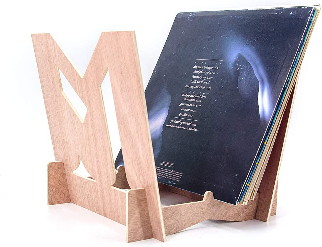 Solid Wood Display Stand Environmentally Stylish Record Holder Premium Design to Hold 30 7 Or 12 LP Music Storage Rack inyl Record Storage Holder