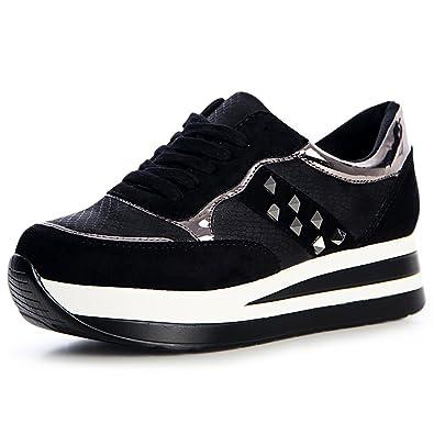 626e78a29a19d9 topschuhe24 1341 Damen Plateau Turnschuhe Sneaker Sportschuhe Derby ...