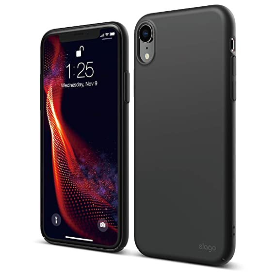 hot sale online 155de a6cb1 elago Slim Fit Series iPhone XR case [Black] - [Matte Finish][Support  Wireless Charging][Full Covered][Scratch & Minor Drop Protection][Everyday  Case] ...