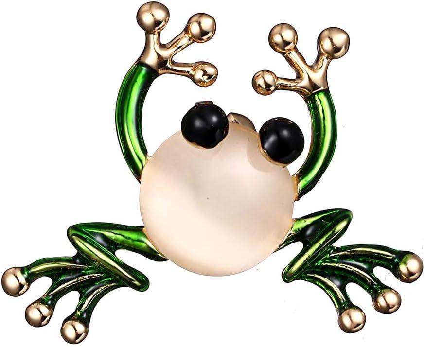 Vkospy Grenouille Mignonne Broche color/ée Dripping Huile Femmes Corsage Femmes Corsage Collier Lapel Broche Bijoux /à la Mode Cadeau