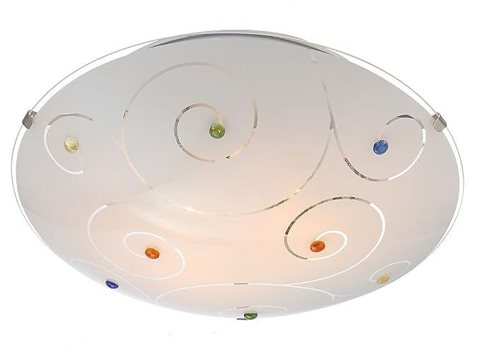 Plafoniere Vetro Colorato : Lampada da soffitto fulva Ø cm con led vetro parete e