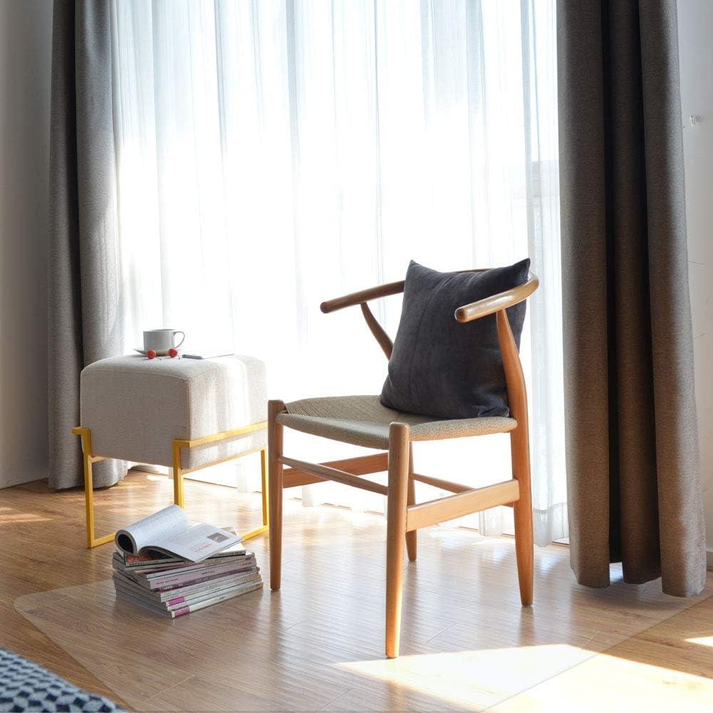 ReaseJoy Rectangle PVC Chair Mat Non-slip Transparent for Carpet Floor Protection 153x117cm